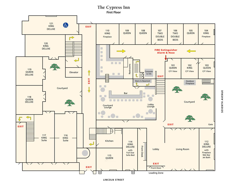 cypress inn carmel california room locator