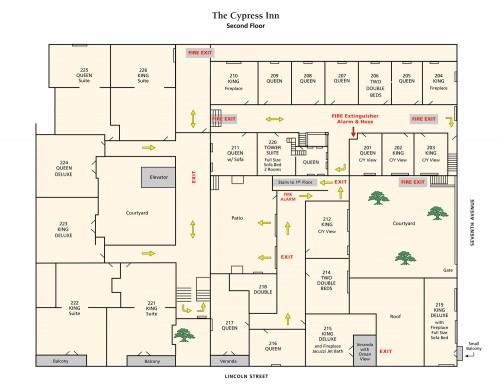 carmel-hotel-room-locator-second-floor